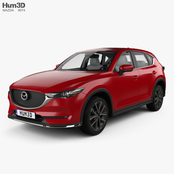 3D model of Mazda CX-5 (KF) with HQ interior 2017