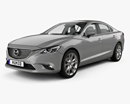 Mazda 6 GJ sedan with HQ interior 2015 3D model