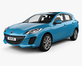 3D model of Mazda 3 BL2 US-spec hatchback 2011