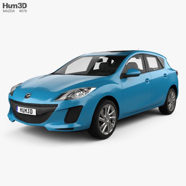 Mazda 3 BL2 US-spec hatchback 2011 3D model
