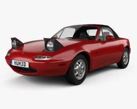 3D model of Mazda MX-5 1989