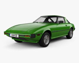 3D model of Mazda RX-7 1978