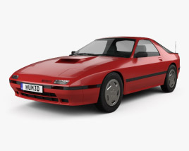 3D model of Mazda RX-7 coupe 1985