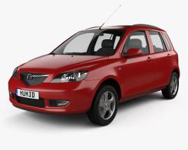 3D model of Mazda 2 2003