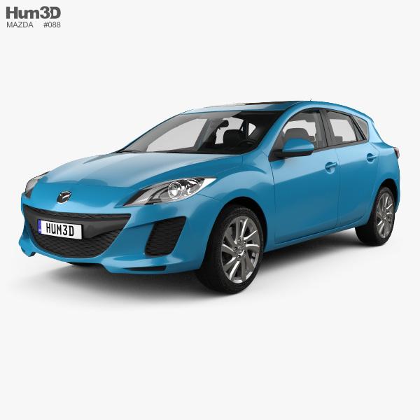Mazda 3 US-spec hatchback  with HQ interior 2011 3D model