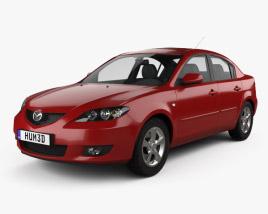 3D model of Mazda 3 sedan 2003