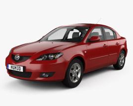 Mazda 3 Berlina con interni 2003 Modello 3D