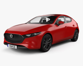 3D model of Mazda 3 hatchback 2019