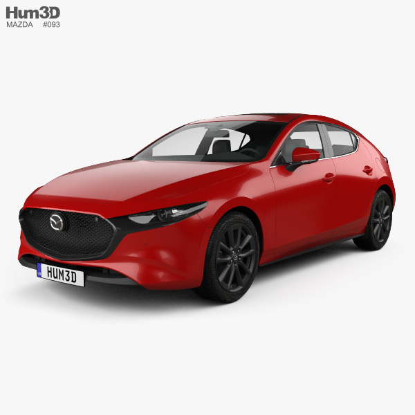 Mazda 3 hatchback 2019 3D model