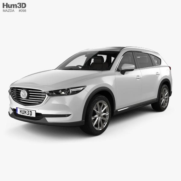 Mazda CX-8 with HQ interior 2017 3D model