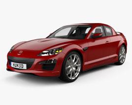 Mazda RX-8 with HQ interior 2008 3D model
