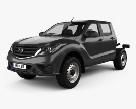 3D model of Mazda BT-50 Double Cab Chassis 2018