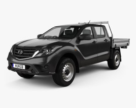 3D model of Mazda BT-50 Dual Cab AlloyTray 2018