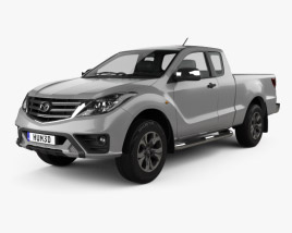 3D model of Mazda BT-50 Freestyle Cab 2018