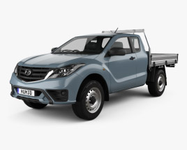 3D model of Mazda BT-50 Freestyle Cab Alloy Tray 2018