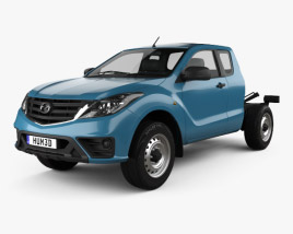 3D model of Mazda BT-50 Freestyle Cab Chassis 2018