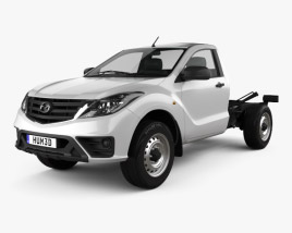 3D model of Mazda BT-50 Single Cab Chassis 2018