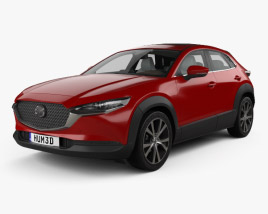 3D model of Mazda CX-30 with HQ interior 2020