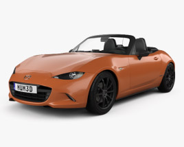 3D model of Mazda MX-5 30th Anniversary convertible 2019