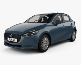 3D model of Mazda 2 hatchback 2019