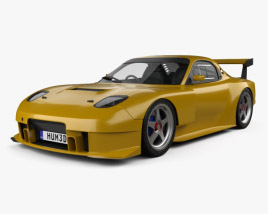 3D model of Mazda RX-7 GT300 2004