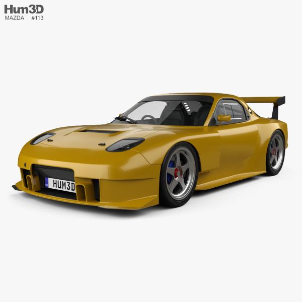 Mazda RX-7 GT300 2004 3D model