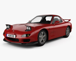 3D model of Mazda RX-7 with HQ interior 1992