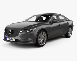 3D model of Mazda 6 sedan with HQ interior 2018
