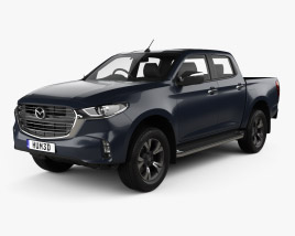 3D model of Mazda BT-50 Double Cab 2020