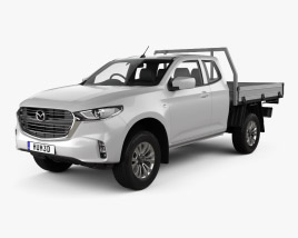 3D model of Mazda BT-50 Freestyle Cab Alloy Tray 2020