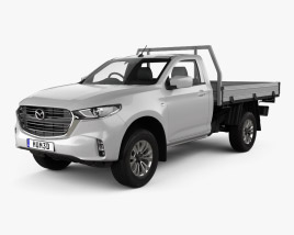 3D model of Mazda BT-50 Single Cab Alloy Tray 2020
