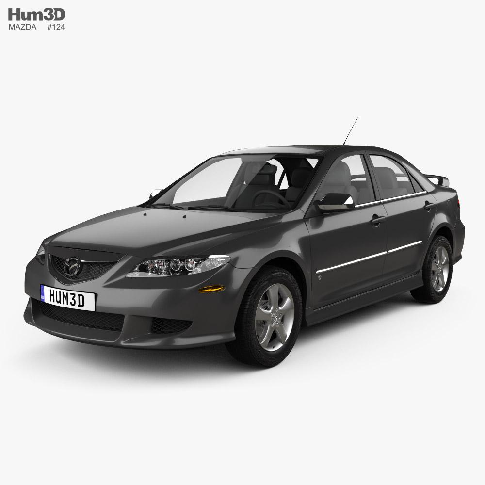 Mazda 6 Sport US-spec sedan 2002 3D model
