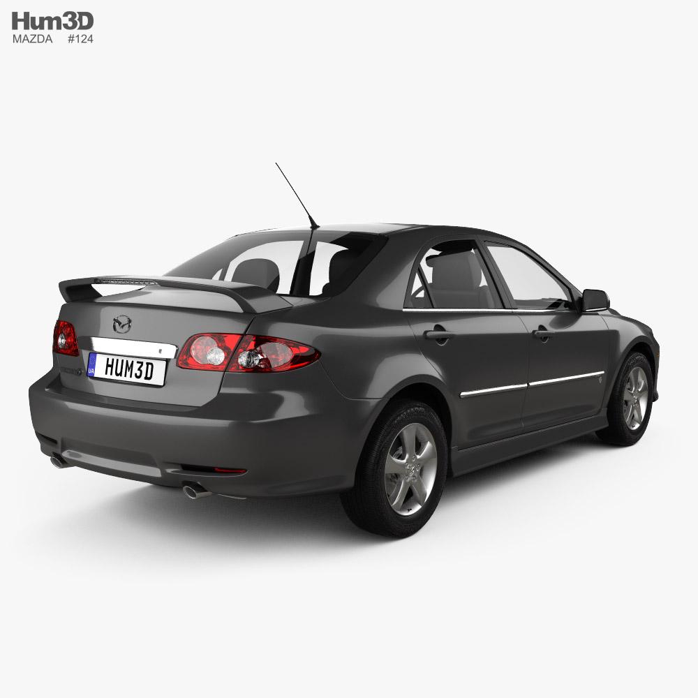 Mazda 6 Sport US-spec sedan 2002 3d model back view
