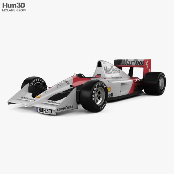 3D model of McLaren MP4-6 1991