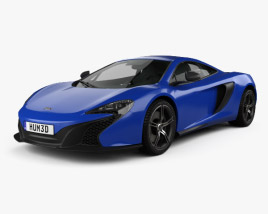 3D model of McLaren 650S coupe 2014