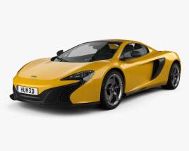 3D model of McLaren 650S Spider 2015