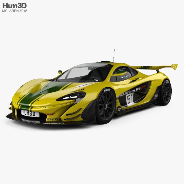 McLaren P1 GTR 2014 3D model