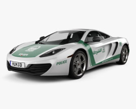 3D model of McLaren MP4-12C Police Dubai 2013