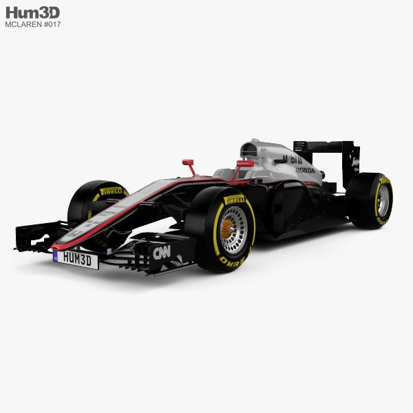 3D model of McLaren MP4-30 2015