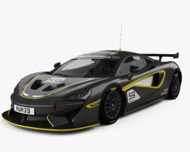 3D model of McLaren 570S GT4 2016