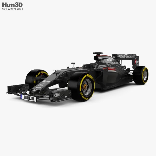 McLaren MP4-31 2016 3D model