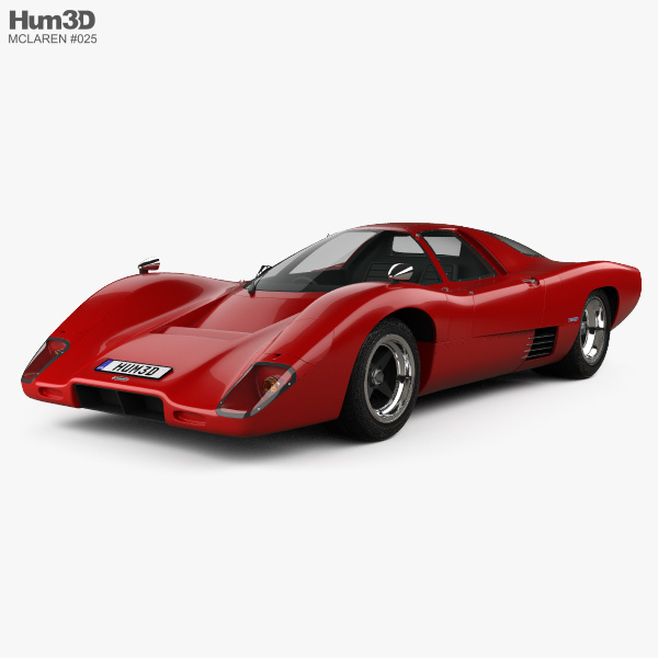McLaren M6 GT 1969 3D model