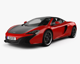 3D model of McLaren 650S Can-Am with HQ interior 2016