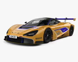 3D model of McLaren 720S GT3 with HQ interior 2019