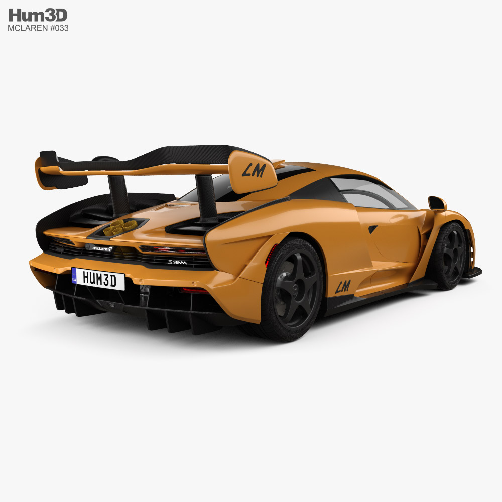 McLaren Senna LM 2021 3d model back view