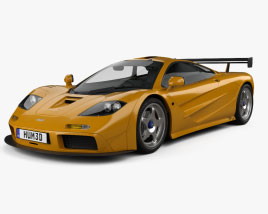 McLaren F1 LM XP1 1995 3D model