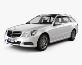 3D model of Mercedes-Benz E-Class 2010 Estate 2010