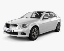3D model of Mercedes-Benz C-Class 2007