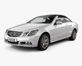 3D model of Mercedes-Benz E-Class cabrio 2011
