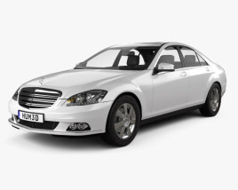 3D model of Mercedes-Benz S-Class 2010